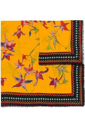 La DoubleJ Damen Schals - Schal mit Orchideen-Print
