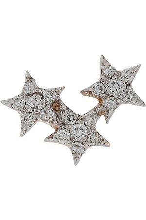 Milka 14kt 'Triple Star' Rotgoldohrstecker mit Diamanten