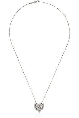 Suzanne Kalan Damen Halsketten - 18kt 'Fireworks' Weißgoldring mit Diamanten