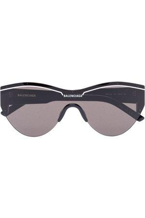 Balenciaga Runde Sonnenbrille mit Logo