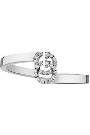 Gucci GG Running' Weißgoldring mit Diamanten