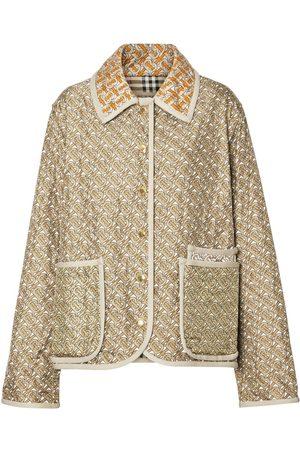 Burberry Damen Jacken - Seidenjacke mit Monogramm