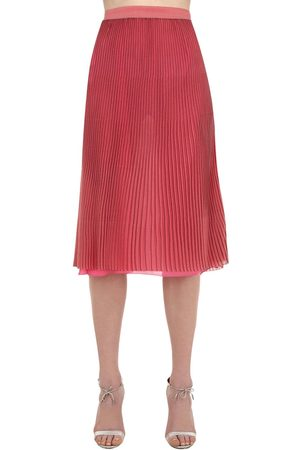 MARCO DE VINCENZO Pleated Lurex Midi Skirt
