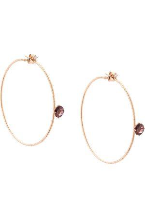 Mattia Cielo Damen Ohrringe - 18kt Rotgoldcreolen mit Diamanten