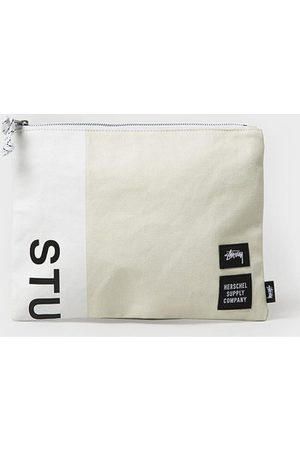 Herschel Kulturbeutel Stussy X Heavy Canvas Large Network - White