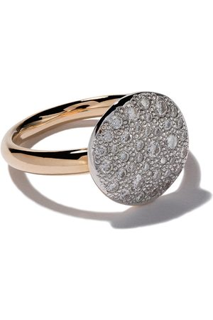 Pomellato 18kt 'Sabbia' Rotgoldring mit Diamanten