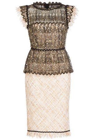 TALBOT RUNHOF Tweed-Kleid rosa