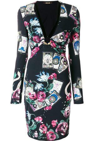 Roberto Cavalli Kleid mit Blumen-Print