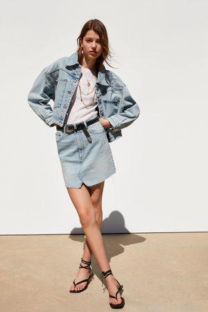 Zara Jeansjacke im cropped-schnitt