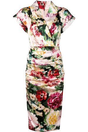 Dolce & Gabbana Midikleid mit Blumenmuster