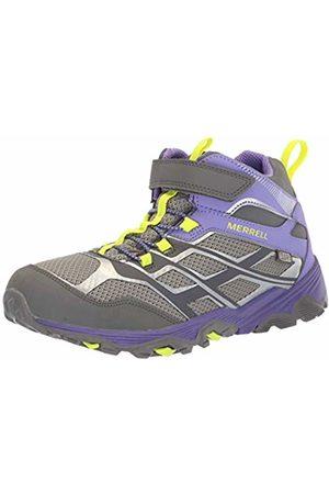 Merrell Unisex-Kinder M-Moab FST Mid A/c Waterproof Trekking- & Wanderstiefel Grey/Purple