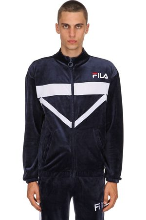 Fila Nixon Cotton Blend Velour Track Jacket