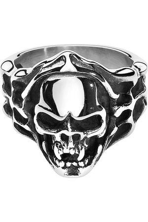etNox hard and heavy Evil Skull Ring Standard