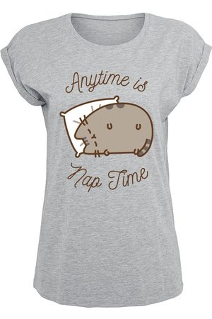 Pusheen Anytime Is Nap Time T-Shirt meliert