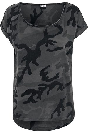 Urban classics Ladies Camo Back Shaped Tee Girl-Shirt