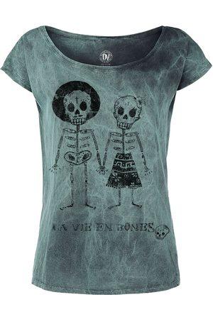Outer Vision Skeleton Lovers T-Shirt türkis