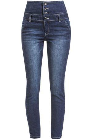 Forplay High Waist Denim Jeans Jeans dunkelblau