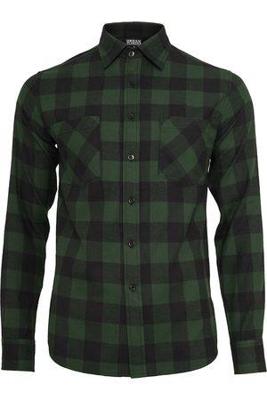 Urban classics Checked Flanell Shirt Flanellhemd /dunkelgrün