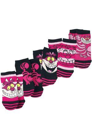 Alice im Wunderland Grinsekatze Socken pink/