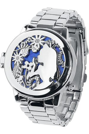 Alice im Wunderland Damen Uhren - Alice and Cheshire Cat Armbanduhren silberfarben