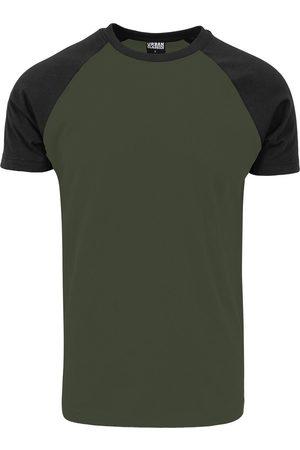 Urban classics Raglan Contrast Tee T-Shirt oliv/