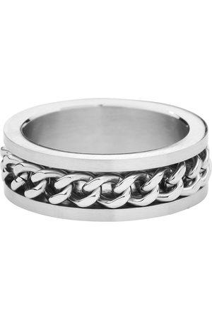 etNox hard and heavy Mesh Steel Ring silberfarben