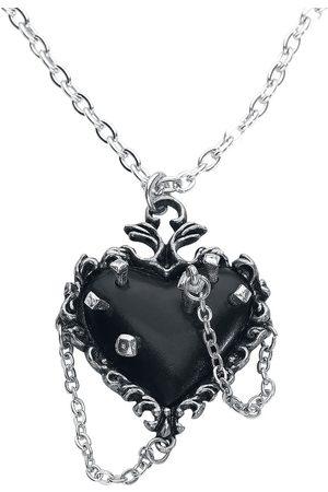 Alchemy Witches Heart Halskette silberfarben