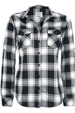 Brandit Amy Flanell Checkshirt Flanellhemd /weiß
