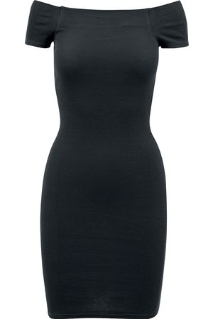 Urban classics Ladies Off Shoulder Rib Dress Kurzes Kleid