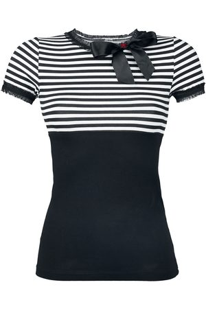 Pussy Deluxe Stripey T-Shirt /weiß
