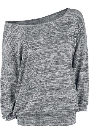 Forplay Oversized Melange Wideneck Sweater Strickpullover meliert