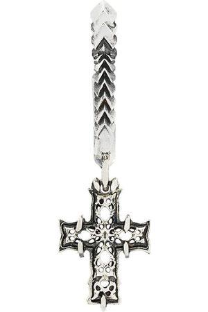 EMANUELE BICOCCHI Silberkreole mit Kreuzanhänger