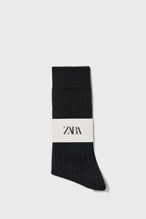 Zara Socke aus mercerisierter baumwolle mit rippenmuster premium