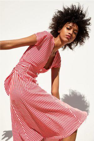 Zara Damen Bedruckte Kleider - Kleid mit streifen