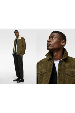 Zara Contrast leather jacket
