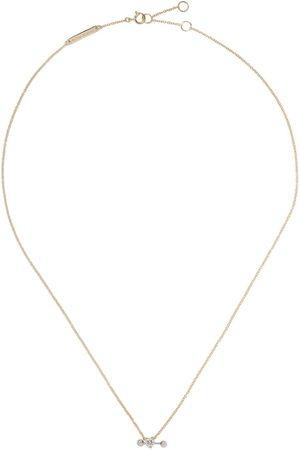 DELFINA DELETTREZ 18kt 'Two In One' Gelb- und Weißgoldhalskette mit Diamanten