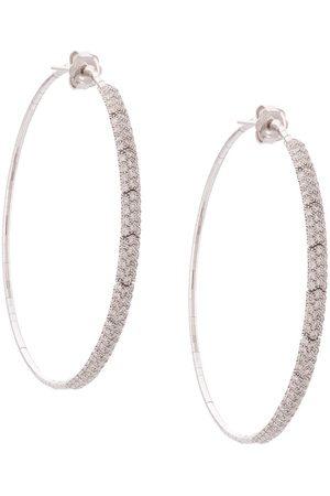 Mattia Cielo Große 18kt 'Rugiada' Weißgoldcreolen mit Diamanten