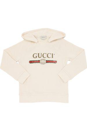 Gucci Kapuzensweatshirt Aus Baumwolle Mit Logodruck