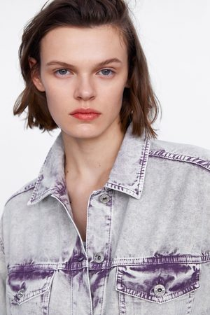 Zara Jeansjacke im used-look