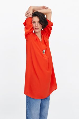 Zara Kleid mit metallknopf