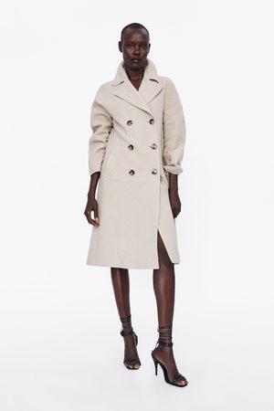 Zara Langer zweireihiger mantel