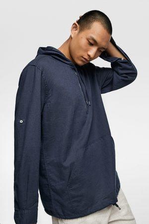 Zara Rustikales hemd mit kapuze
