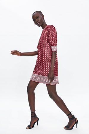 Zara Gemustertes kleid aus webstoff