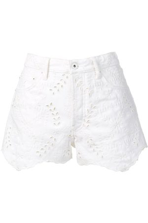 OFF-WHITE Bestickte Jeans-Shorts
