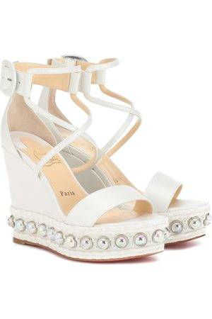 Christian Louboutin Wedge-Sandalen Chocazeppa 120