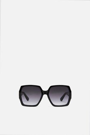 Zara Quadratische sonnenbrille aus kunststoff