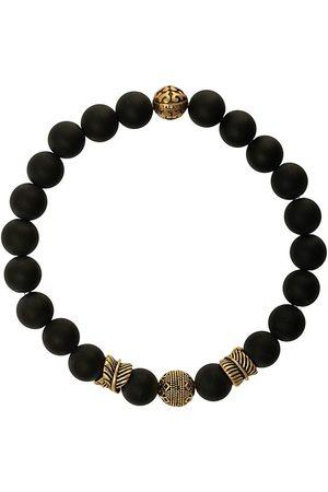 Nialaya Jewelry Herren Armbänder - Perlenarmband mit Gravierungen