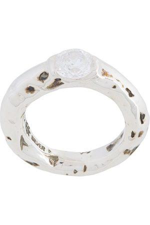 E.M. Damen Ringe - Silberring mit Zirkonia
