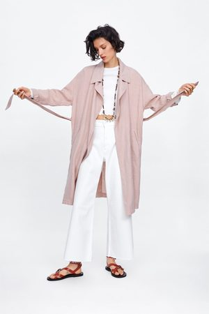 Zara Trenchcoat aus leinen mit gürtel