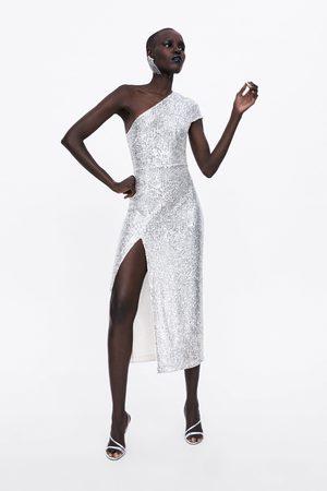 Zara Asymmetrisches paillettenkleid